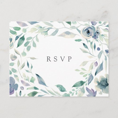Mountain Meadow RSVP Postcard with Meal Choice
