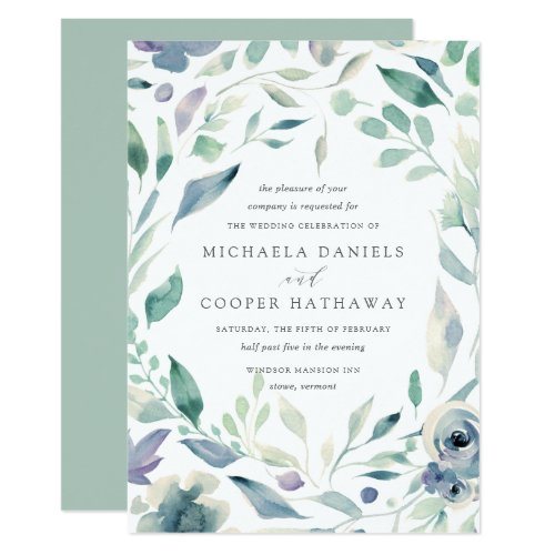 Mountain Meadow | Spring Watercolor Floral Wedding Invitation