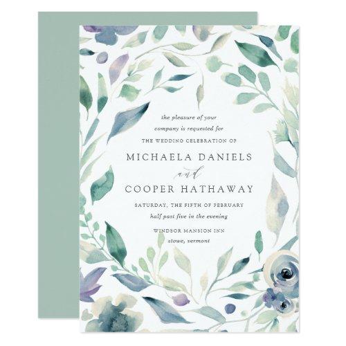 Mountain Meadow | Spring Watercolor Floral Wedding Invitation