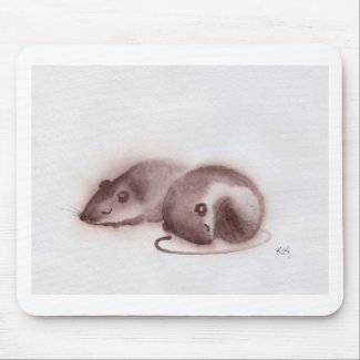 Mousepad with Adorable Mice Print