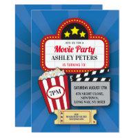 Movie Night Birthday Party Any Age Cinema Film Card