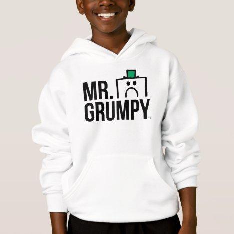 Mr Grumpy | Peeking Head Over Name Hoodie