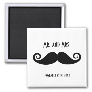 Mr. & Mrs. Mustache Magnet