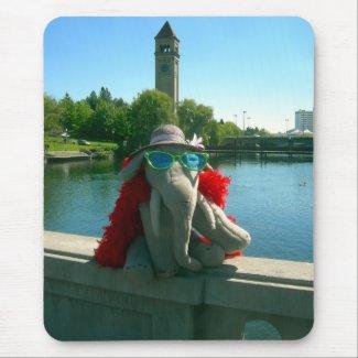 Ms Ella at the park Mousepads