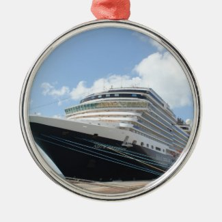 MS Nieuw Amsterdam Cruise Ship on Aruba Ornament