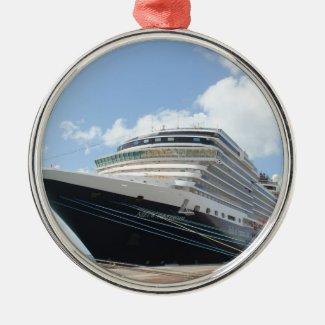 MS Nieuw Amsterdam Cruise Ship on Aruba Ornament