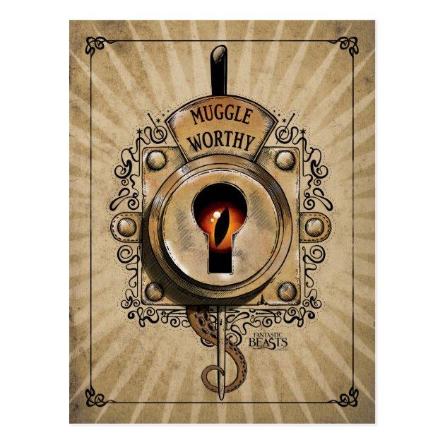 Muggle Worthy Lock With Fantastic Beast Locked In Postcard