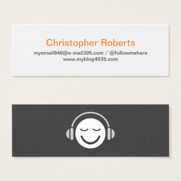 Muic, mucisian or DJ minimal elegant personal Mini Business Card