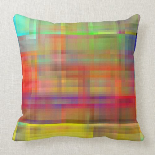 Multicolored Abstract Throw Pillow