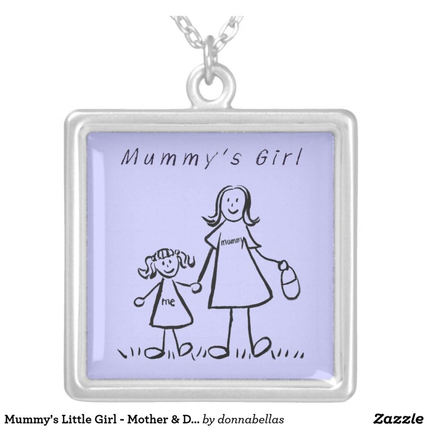 Mummy's Little Girl - Mother & Daughter Necklace
