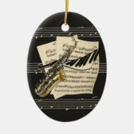 Music Design Personalized Ornament