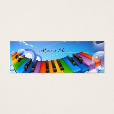 Music is Life Keyboard Bookmark