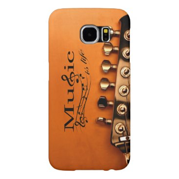 Music is Life with Guitar Machine Head Samsung Galaxy S6 Case