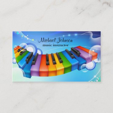 Music Lesson Instructor Business Card