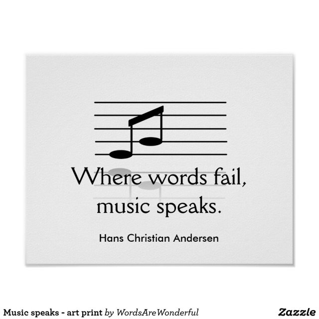 Music Speaks - Art Print