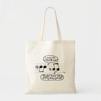 Musical Joke Cartoon Canvas Bags
