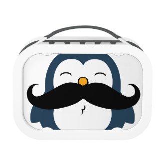 Mustache Penguin Lunchbox