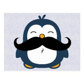Mustache Penguin Postcards
