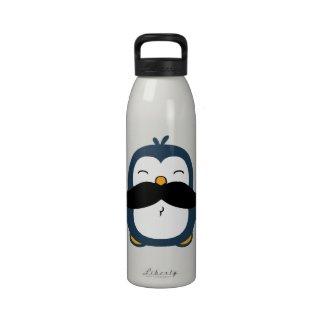Mustache Penguin Water Bottle