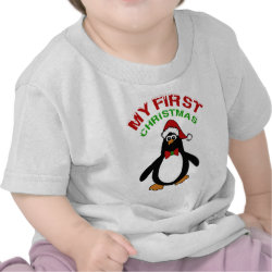 My 1st Christmas Penguin T-shirts