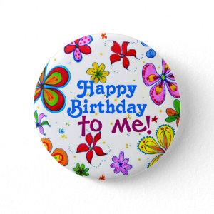 My Birthday Pin/Button button