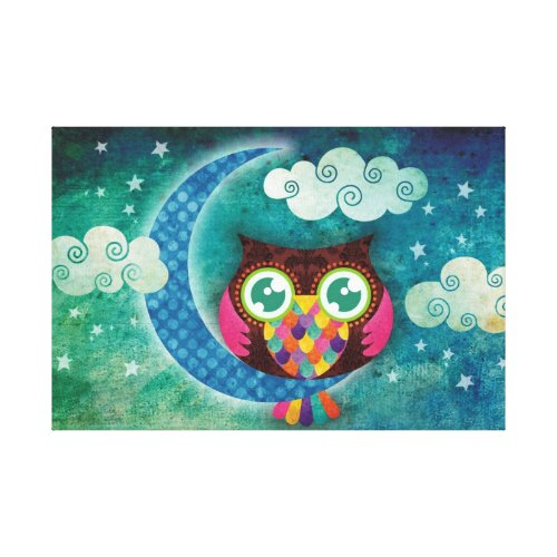 My Crescent Owl Wrapped Canvas
