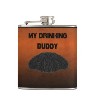 My Drinking Buddy Vinyl Wrapped Flask