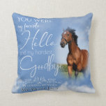 My Favorite Hello Horse Pet Memorial Your PHOTO Throw Pillow
