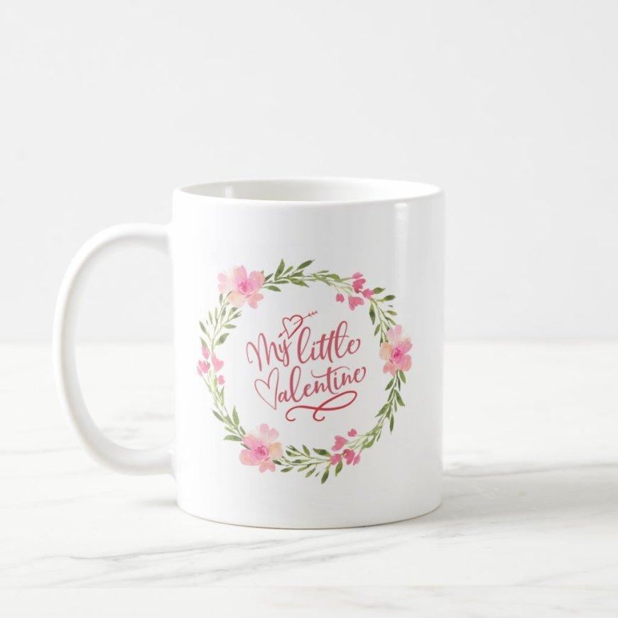 My Little Valentine Floral Mug
