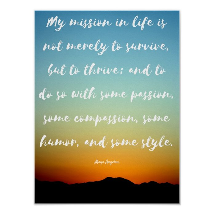 """""""My mission in life"""" - Inspirational Poster"""