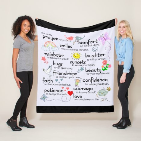 My Prayer For You | Black Fleece Blanket