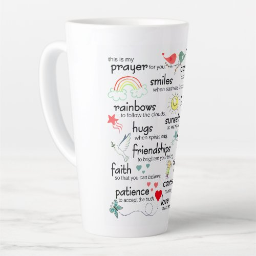 My Prayer For You Blessings Latte Mug