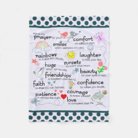 My Prayer For You Fleece Blanket