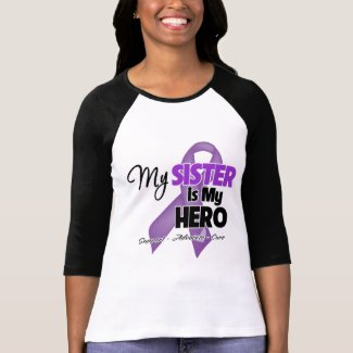 My Sister is My Hero - Purple Ribbon Tshirt