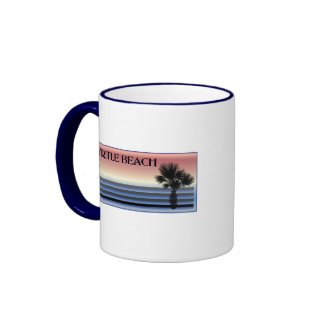 Myrtle Beach SC Palm Tree Mugs