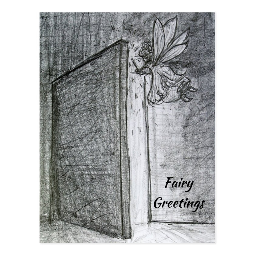 Mystery Fairy Greeting Customized Art Postcards