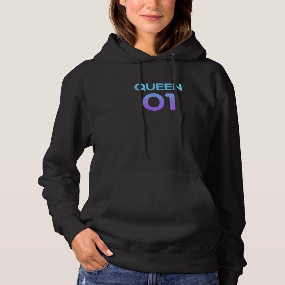 Mystic Mauve Queen 01 Hoodie