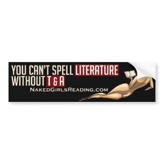 Naked Girls Reading Bumper Sticker A bumpersticker