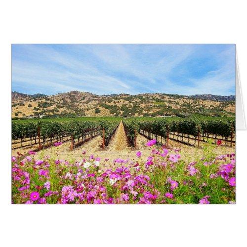 Napa Valley California Vineyard Cards