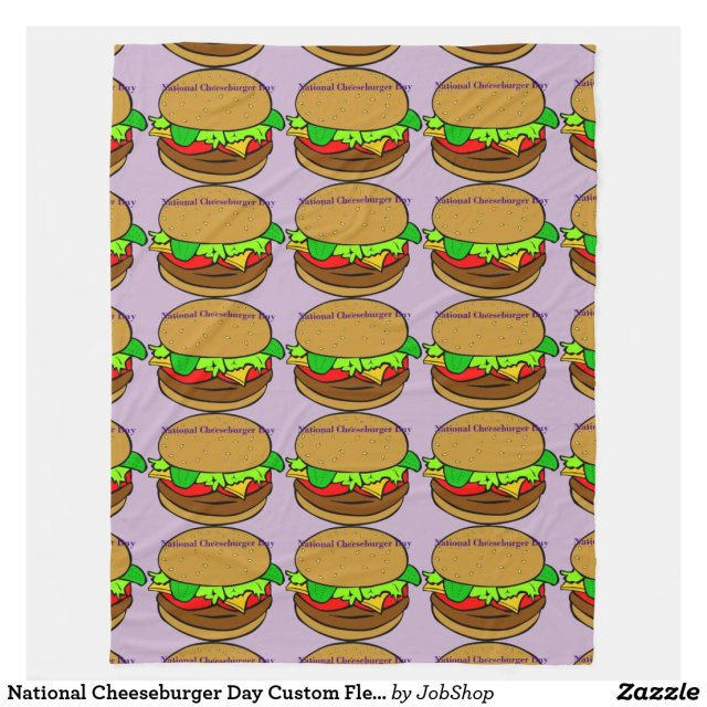 National Cheeseburger Day Custom Fleece Blanket