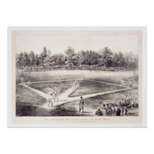 National Pastime Baseball 1866 Print