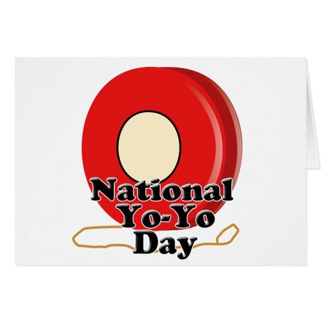 National Yo-Yo Day Card