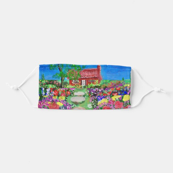 Nature Cottage With Beautiful Gardens Cloth Face Mask
