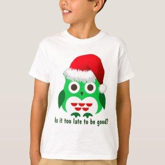 Naughty Christmas Owl T-Shirt