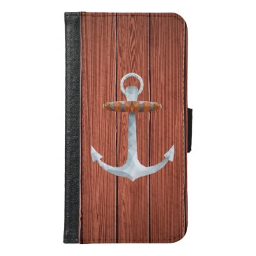 Nautical Crystallized Abstract Anchor Wallet Phone Case For Samsung Galaxy S6