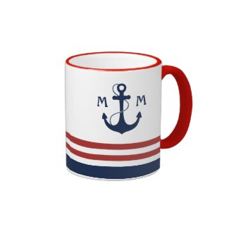 Nautical Monogram Coffee Mug