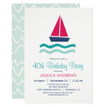 Nautical Sailboat Birthday Party Invitation