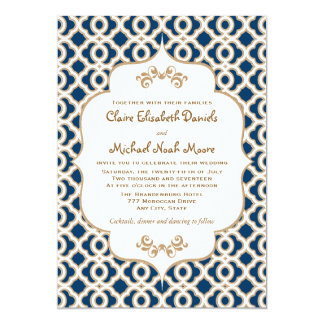 Printed Moroccan Style Wedding Save The Date