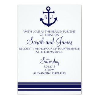 Nautical Wedding Invitation Yellow Blue