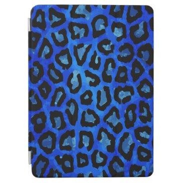 Neon Blue Cheetah Vector iPad Air Cover